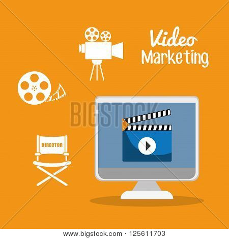 Video Marketing concept with icon design, vector illustration 10 eps graphic.