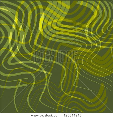 Yellow abstract lines and curve yellow background