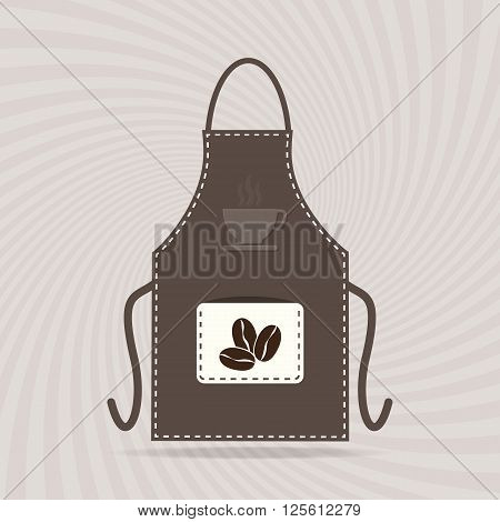 Apron icon kitchen cooking sign vector illustration