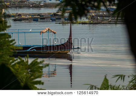 Fishing boat on Taal Lake