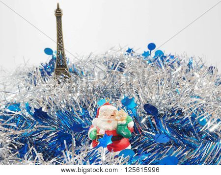 Colorful streamer and Santa Claus in the front background ** Note: Visible grain at 100%, best at smaller sizes