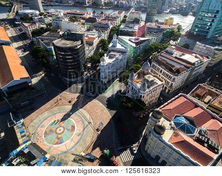 Buildings in Marco Zero in Recife, Pernambuco State, Brazil