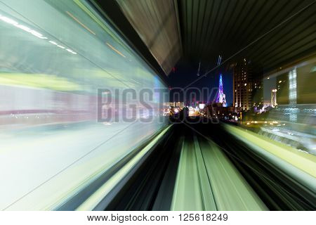 Moving monorail