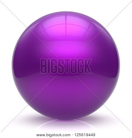 Purple sphere ball balloon button round basic circle geometric shape solid figure simple minimalistic element single shiny glossy sparkling object blank atom icon. 3d render