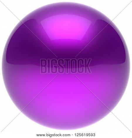 Purple sphere ball blue push button circle round basic solid bubble figure geometric shape minimalistic simple atom element single shiny glossy sparkling object blank balloon icon. 3d render