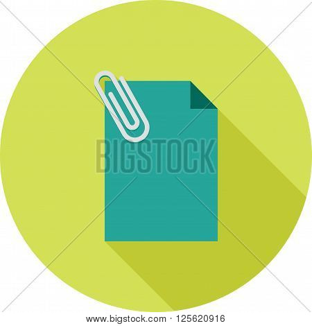 Note, document, attached icon vector image. Can also be used for marketing. Suitable for web apps, mobile apps and print media.