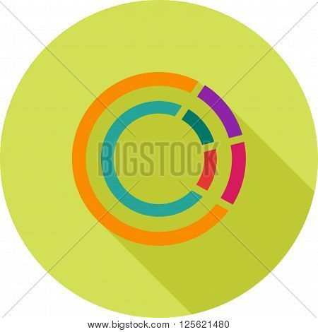 Chart, doughnut, business icon vector image. Can also be used for marketing. Suitable for use on web apps, mobile apps and print media.