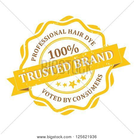 Trusted Brand - Professional Hair dye - voted by consumers - grunge label. Print colors