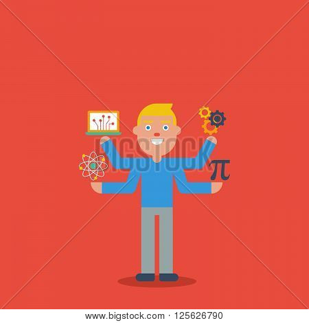 Stem Education Character Concept