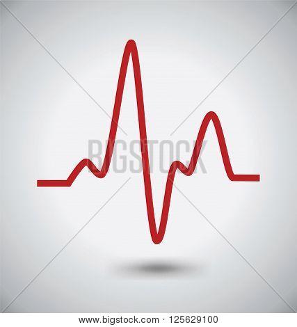 Electrocardiogram Icon ECG or EKG Icon Madical Concept