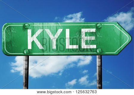 kyle road sign on a blue sky background