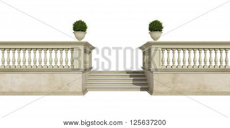 Classic Balustrade On White