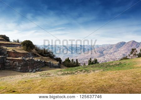 ruins of the ancient Inca fortress