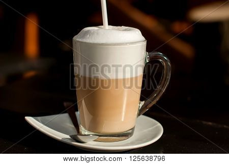 Latte Macchiato With Cocoa