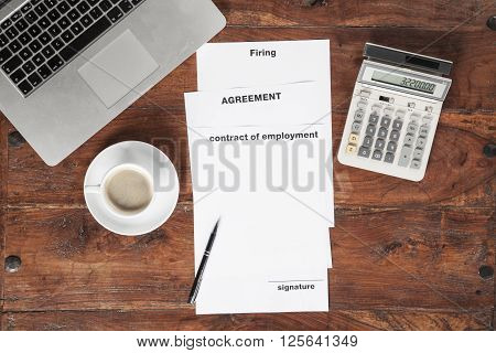 Documents, Coffee And Stationery Items