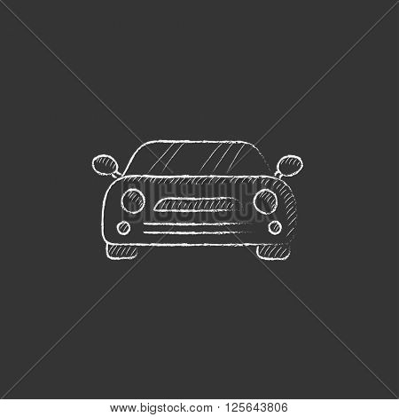 Car. Drawn in chalk icon.