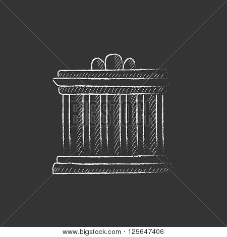 Acropolis of Athens. Drawn in chalk icon.