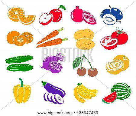 Fruits and vegetables set icons. Fruits and vegetables set. Fruits and vegetables set art. Fruits and vegetables set web. Fruits and vegetables set new. Fruits and vegetables icons