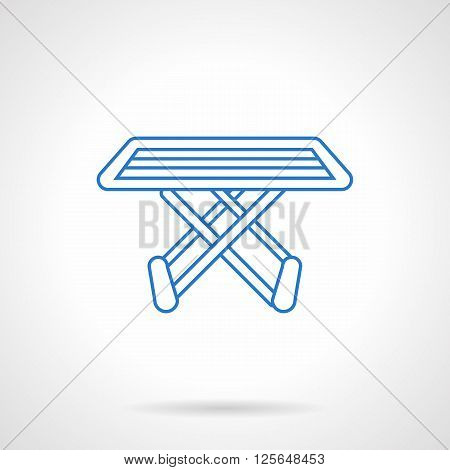 Household and laundry equipment. Folding drying rack. Clothes dryer. Flat line style vector icon. Single design element for website, business.