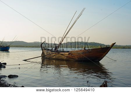 The Boats In Goa, India
