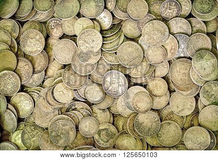 Ancient silver coins, Used for textured and background