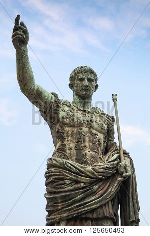Caesar Augustus, Ancient Statue In Rome, Italy