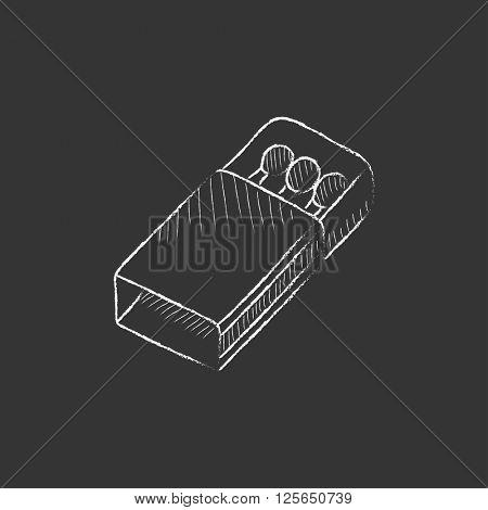 Matchbox. Drawn in chalk icon.