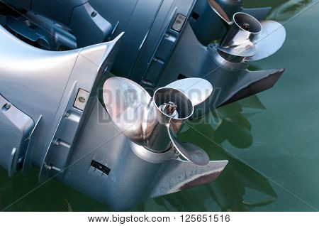 Boat engine with propeller details check up