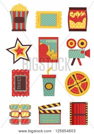 Flat Illustration Featuring Movie Elements