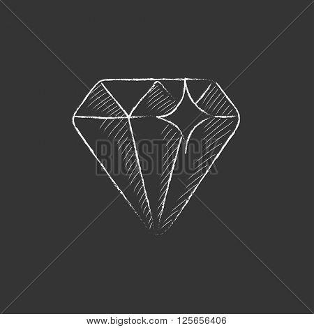 Diamond. Drawn in chalk icon.