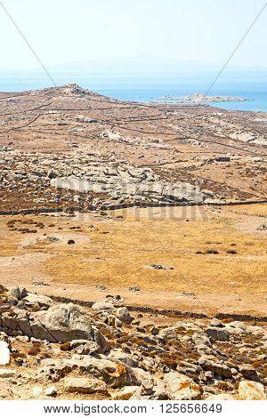 In Delos       Historycal Acropolis And  Site
