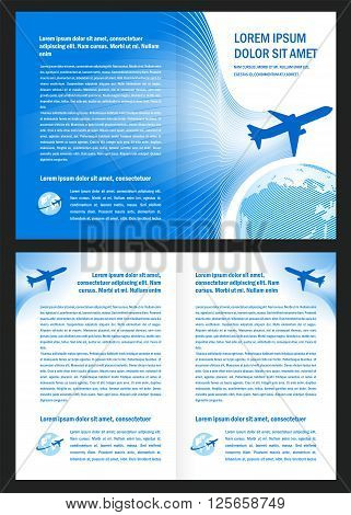 booklet book airplane flight tickets air fly cloud sky blue white color travel transtortation globe background
