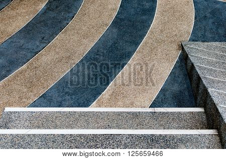 Old Granite floor tiled exterior decoration outdoor