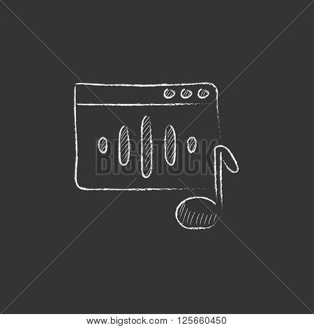 Radio. Drawn in chalk icon.
