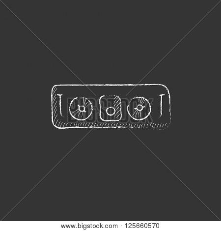 DJ console. Drawn in chalk icon.