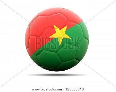 Football With Flag Of Burkina Faso