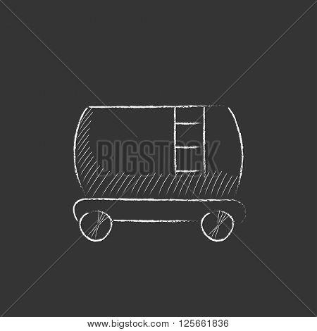 Railway cistern. Drawn in chalk icon.