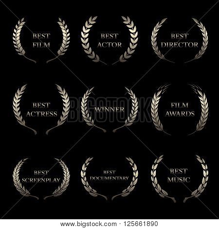 Vector Film Awards, award wreaths on black background