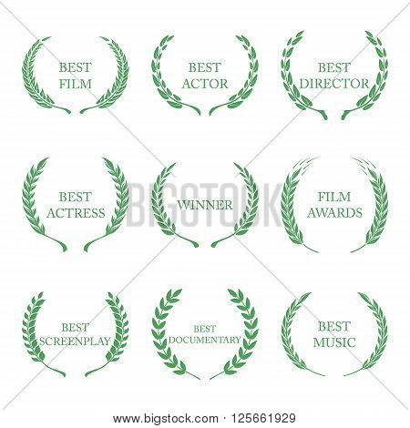 Film Awards, award wreaths on white background vector