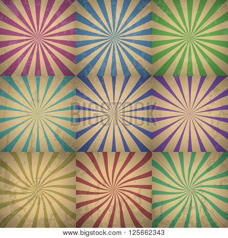 Abstract Colorful Retro Background Vector Illustration with grunge effect