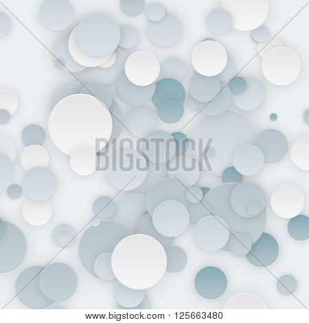 Abstract Colorful Seamless Circles Background vector illustration