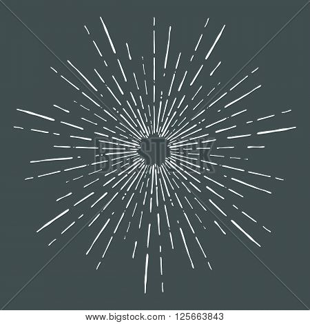 Vector vintage bursting rays - design elements for your design. Great for retro style projects illustration