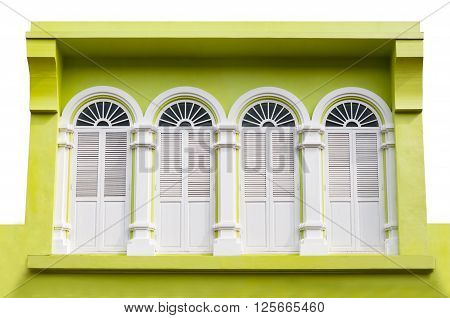 Sino Portuguese a vintage building Architecture in Phuket old town Thailand
