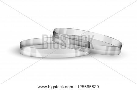 Chemical flask isolated on a white background