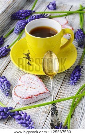 Tea And Hyacinths