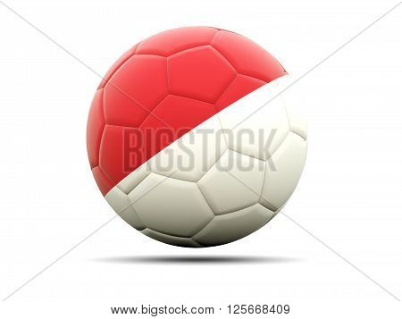 Football With Flag Of Monaco