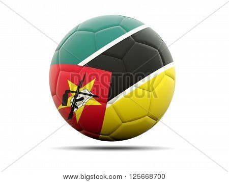 Football With Flag Of Mozambique