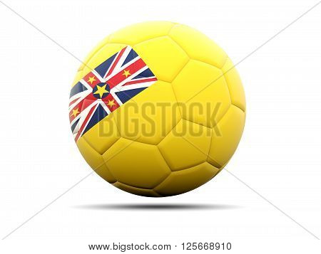 Football With Flag Of Niue
