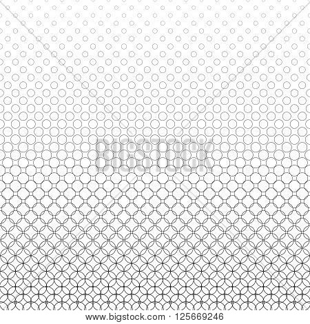 Repeat black and white abstract circle pattern design