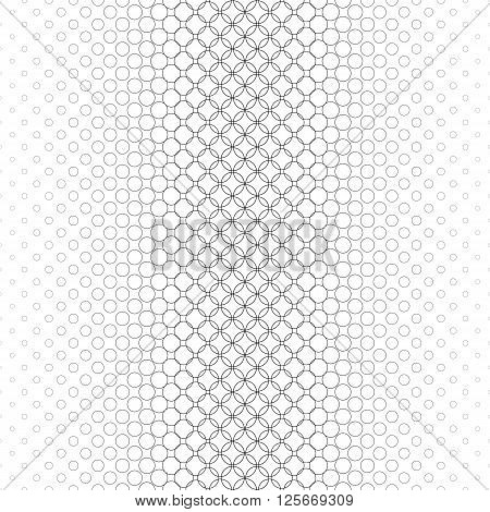 Repeating monochrome vector circle pattern design background